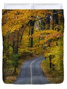 Bucks County Road In Autumn Duvet Cover