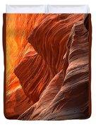 Buckskin Gulch Slot Canyon Fire Duvet Cover