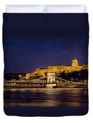 Buda Castle And Chain Bridge Duvet Cover