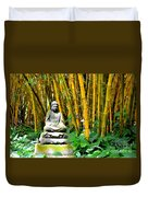 Buddha In The Bamboo Forest Duvet Cover