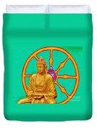 Buddha In The Grove Duvet Cover