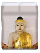 Buddha Statue In Thailand Temple Altar Duvet Cover