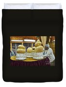 Buddha Figures With Thick Layer Of Gold Leaf In Phaung Daw U Pagoda Myanmar Duvet Cover