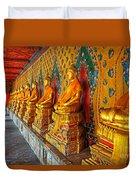 Buddhas At Wat Arun, Bangkok Duvet Cover