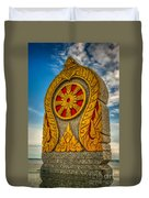Buddhist Icon Duvet Cover by Adrian Evans