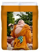 Buddhist Monk On Journey Haw Par Villas Singapore Duvet Cover