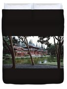 Buddhist Temple, Byodo-in Temple Duvet Cover