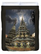 Buddhist Temple In Bangkok Thailand Buddhism Wat Po Duvet Cover