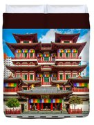 Buddhist Temple In Singapore Duvet Cover