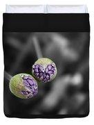 Budding Alliums Duvet Cover