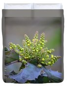 Budding Mahonia Duvet Cover