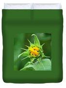 Budding Sunflower Duvet Cover
