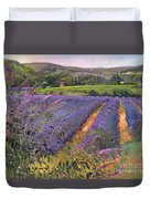 Buddleia And Lavender Field Montclus Duvet Cover