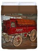 Budweiser Anheuser Busch Wagon Duvet Cover