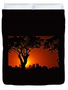 Buenos Aires At Sunset Duvet Cover