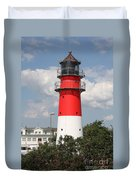 Buesum Lighthouse - North Sea - Germany Duvet Cover