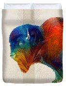 Buffalo Animal Print - Wild Bill - By Sharon Cummings Duvet Cover