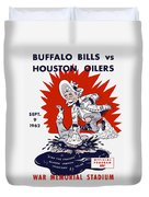 Buffalo Bills 1962 Program Duvet Cover