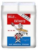 Buffalo Bills 1963 Playoff Program Duvet Cover