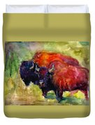 Buffalo Bisons Painting Duvet Cover