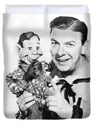 Buffalo Bob And Howdy Doody Duvet Cover