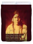 Buffalo Calf Road Woman Duvet Cover