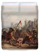 Buffalo Dance Of The Mandan Indians Duvet Cover