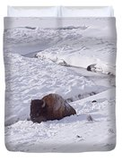 Buffalo In Snow   #6872 Duvet Cover