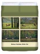 Buffalo National River Elk Duvet Cover