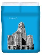 Buffalo New York Skyline 1 - Ice Blue Duvet Cover