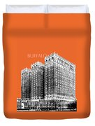 Buffalo New York Skyline 2 - Coral Duvet Cover