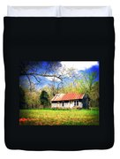 Buffalo River Homestead Duvet Cover by Marty Koch