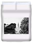 Buffalo Statue On The Parkway Duvet Cover