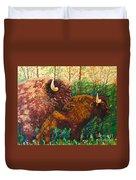 Buffaloes Duvet Cover