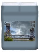 Buffalo's Ohio Street Bridge Duvet Cover