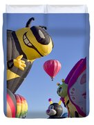 Bug Balloons Waiting To Fly Duvet Cover