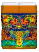 Bug Eyed Monster Duvet Cover by Omaste Witkowski
