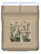 Bugloss Fiddleneck Collage Duvet Cover