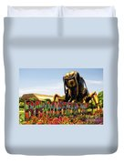 Bugs At Brookfield Zoo Signage Duvet Cover