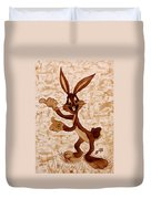 Bugs Banny Original Coffee Painting Duvet Cover
