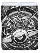 Buick Skylark Wheel Black And White Duvet Cover
