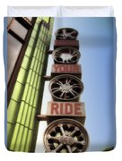 Build Your Ride Signage Downtown Disneyland 01 Duvet Cover