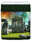 Building A Mystery - Stonehenge Art By Sharon Cummings Duvet Cover