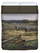 Building Site At Wesslingersee, 1876 Oil On Canvas Duvet Cover
