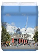 Building Work In The City Of London Duvet Cover