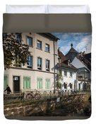 Buildings Along Canal, Altstadt Duvet Cover