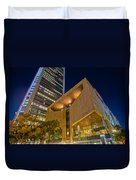 Buildings And Architecture Around Mint Museum In Charlotte North Duvet Cover