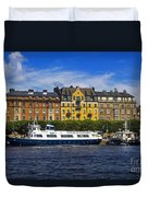 Buildings And Boats Duvet Cover