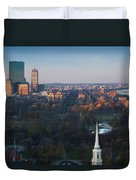 Buildings In A City, Boston Common Duvet Cover