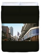 Buildings In A City, Four Points By Duvet Cover